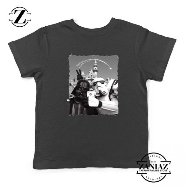 Darth Vader And Stormtrooper Kids Tshirt Disneyland Youth Tee Shirts S-XL Black