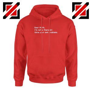 Dear Math Hoodie Mathematics Hoodies Teacher Gift S-2XL Red