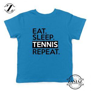 Eat Sleep Tennis Repeat Kids Shirts Tennis Lover Youth T-Shirt Size S-XL