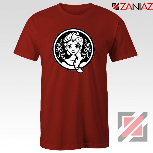 Elsa Frozen Tshirt Princess Disney Tee Shirts S-3XL Red