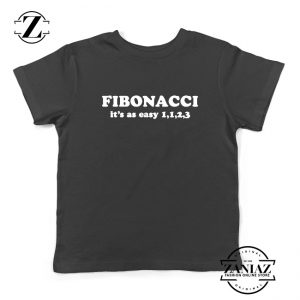 Fibonacci Kids Tshirt Mathematics Algebra Youth Tee Shirts S-XL
