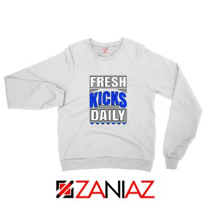 Fresh Kicks Daily Sweatshirt Sneaker Head Gift Sweatshirt Size S-2XL White