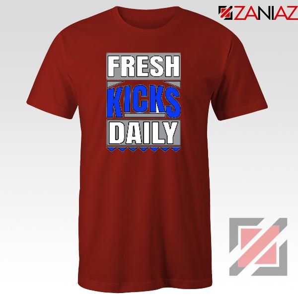 Fresh Kicks Daily Tee Shirt Sneaker Head Gift T-Shirt Size S-3XL Red