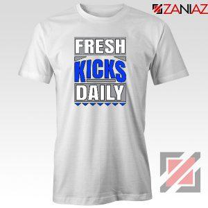 Fresh Kicks Daily Tee Shirt Sneaker Head Gift T-Shirt Size S-3XL White