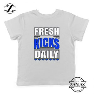 Fresh Kicks Daily Youth Shirts Sneaker Head Gift Kids T-Shirt Size S-XL White