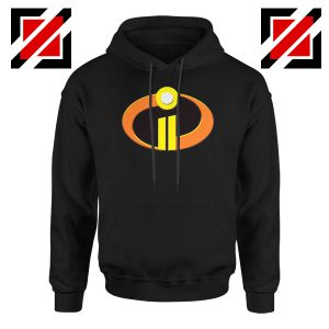 Incredibles Logo Hoodie Disney Pixar Halloween Hoodies S-2XL Black