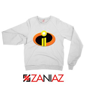 Incredibles Logo Sweatshirt Disney Pixar Halloween Sweaters S-2XL White