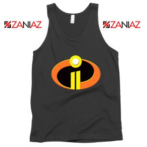 Incredibles Logo Tank Top Disney Pixar Halloween Tops S-3XL Black
