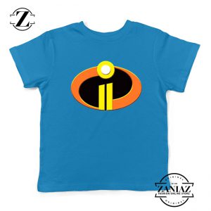 Incredibles Logo Youth Tshirt Disney Pixar Halloween Kids Tee Shirts S-XL Blue