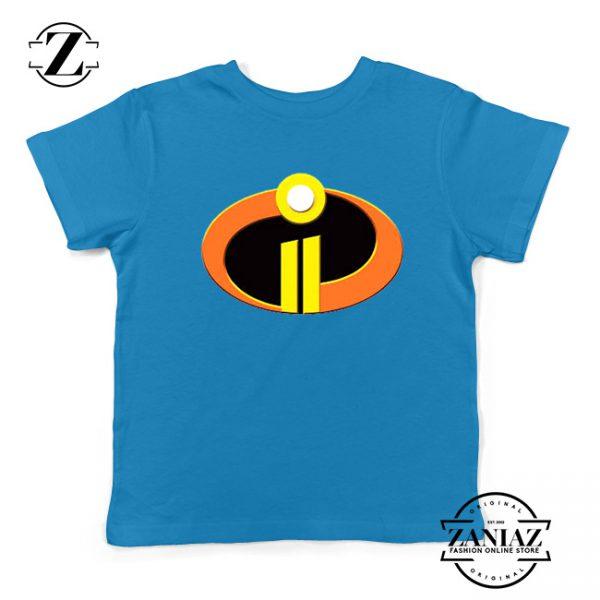 Incredibles Logo Youth Tshirt Disney Pixar Halloween Kids Tee Shirts S-XL Blue