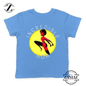 Incredibles Mom Kids Tshirt Disney Pixar Best Youth Tee Shirts S-XL Light Blue