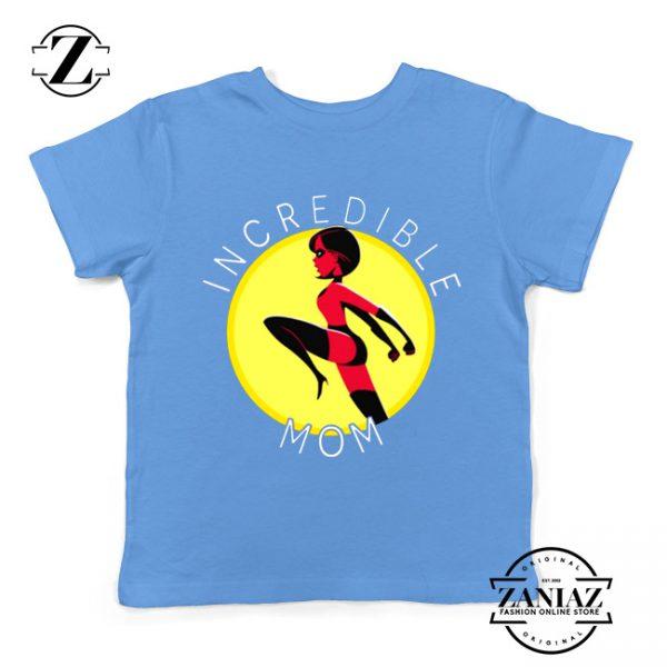 Incredibles Mom Kids Tshirt Disney Pixar Best Youth Tee Shirts S-XL Light Blue