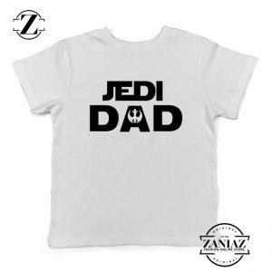 Jedi Dad Youth Tshirt Star Wars Universe Kids Tee Shirts S-XL White