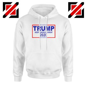 Keep America Great Hoodie Trump 2020 Hoodies S-2XL White