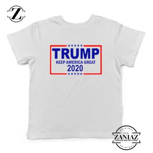 Keep America Great Kids Tshirt Trump 2020 Youth Tee Shirts S-XL White