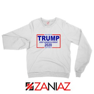 Keep America Great Sweatshirt Trump 2020 Sweater S-2XL White