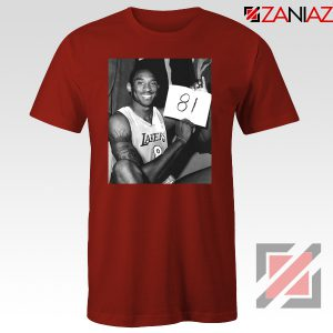 Kobe Bryant 81 Point Red Tshirt