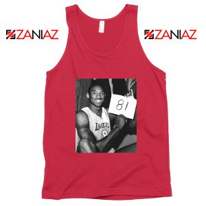 Kobe Bryant 81 Point Tank Top Basketball Tops S-3XL