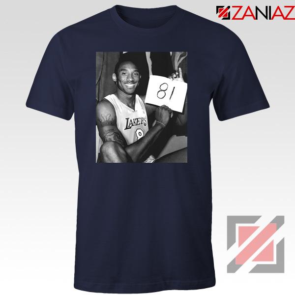 Kobe Bryant 81 Point Tshirt Basketball Funny Tee Shirts S-3XL