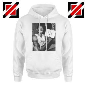 Kobe Bryant 81 Point White Hoodie