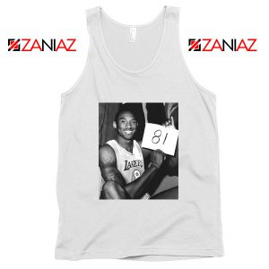 Kobe Bryant 81 Point White Tank Top