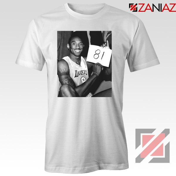 Kobe Bryant 81 Point White Tshirt