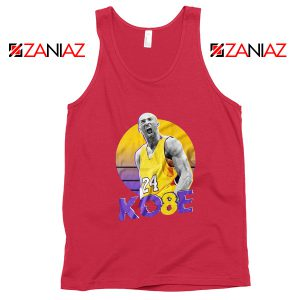 Kobe Bryant Basketball Red Tank Top