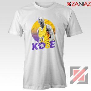 Kobe Bryant Basketball White Tshirt