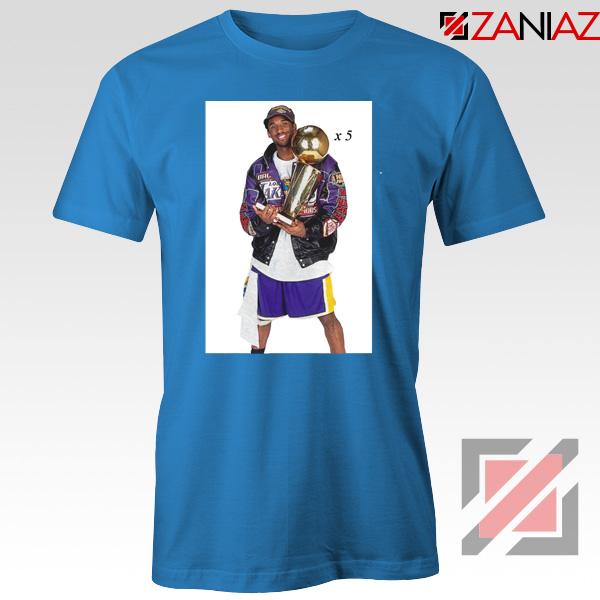 Kobe Bryant Trophy Blue Tshirt