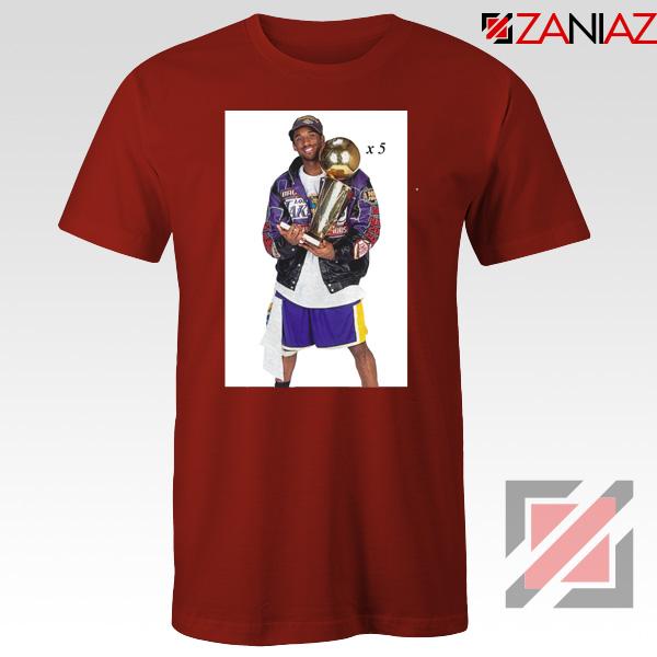Kobe Bryant Trophy Red Tshirt