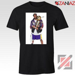 Kobe Bryant Trophy Tshirt NBA Champions Tee Shirts S-3XL