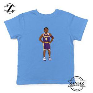 Lakers 8 Kobe Bryant Basketball Palyer Kids Tshirt S-XL