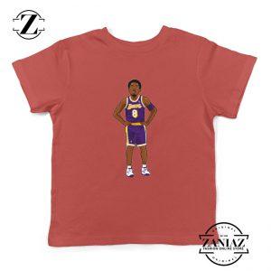 Lakers 8 Kobe Bryant Red Palyer Kids Tshirt
