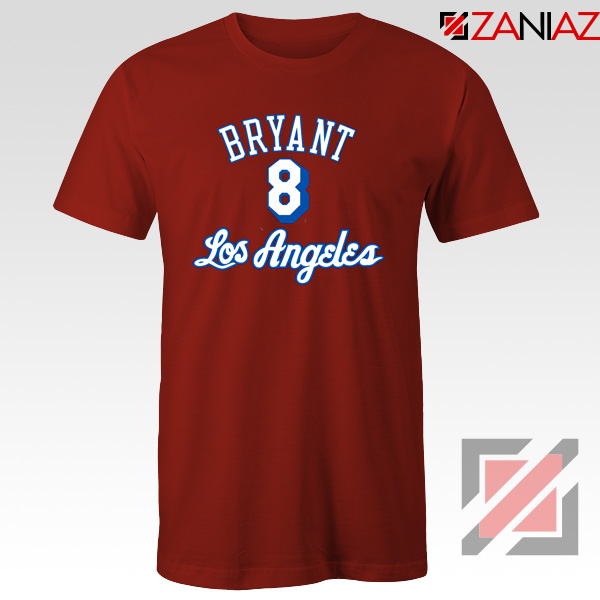 Los Angeles Lakers Bryant Red Tshirt
