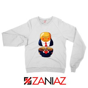 Make Great Again Sweatshirt Gift Trump Sweater S-2XL White