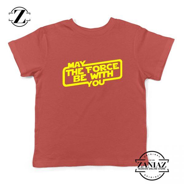 May The Force Be With You Kids Tshirt Obi Wan Kenobi Youth Tee Shirts Red
