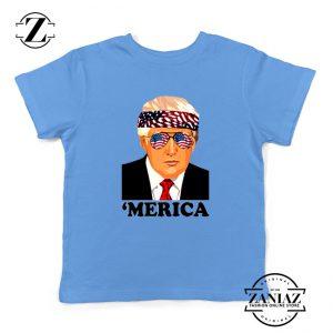 Merica Kids Tshirt Trump Patriotic Best Gift Youth Tee Shirts S-XL