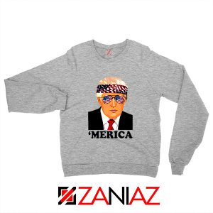 Merica Sweatshirt Trump Patriotic Best Gift Sweater S-2XL