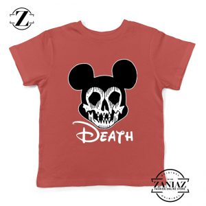 Mickey Disney Parody Kids Tshirt Disney Halloween Youth Tee Shirts S-XL Red