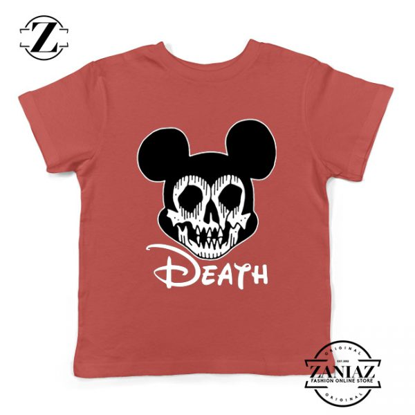 Mickey Disney Parody Kids Tshirt Disney Halloween Youth Tee Shirts S-XL Red