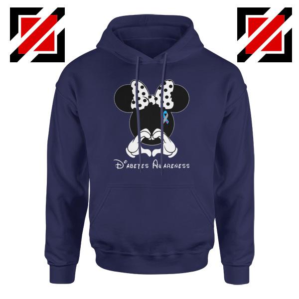 Minnie Mouse Hoodie Diabetes Awareness Gift Hoodies S-2XL