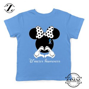 Minnie Mouse Kids Tshirt Diabetes Awareness Youth Tee Shirts S-XL