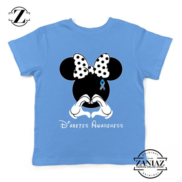 Minnie Mouse Kids Tshirt Diabetes Awareness Youth Tee Shirts S-XL