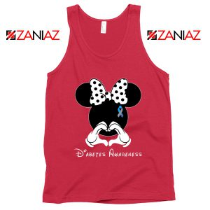 Minnie Mouse Tank Top Diabetes Awareness Gift Tops S-3XL