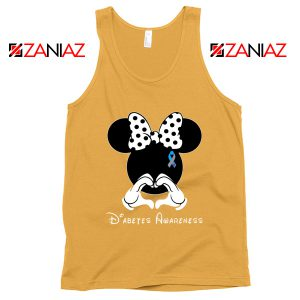 Minnie Mouse Tank Top Diabetes Awareness Gift Tops S-3XL Sunshine