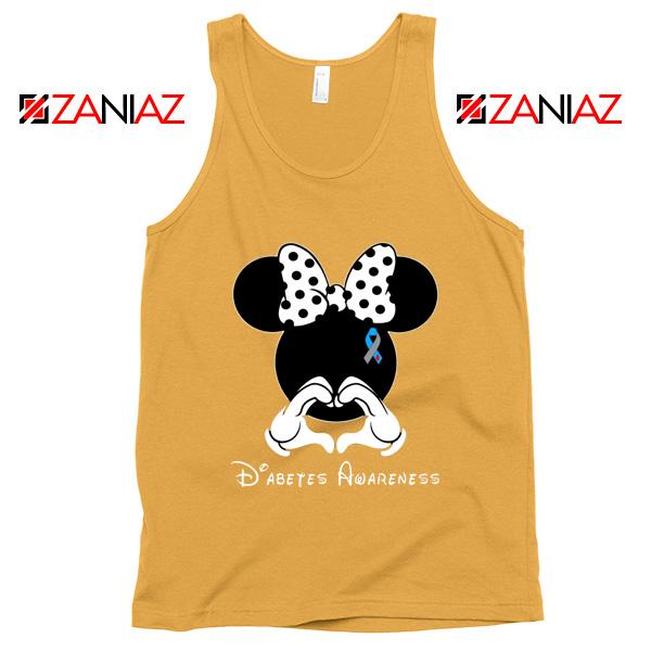 Minnie Mouse Tank Top Diabetes Awareness Gift Tops S-3XL Sunshine