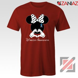 Minnie Mouse Tshirt Diabetes Awareness Tee Shirts S-3XL Red