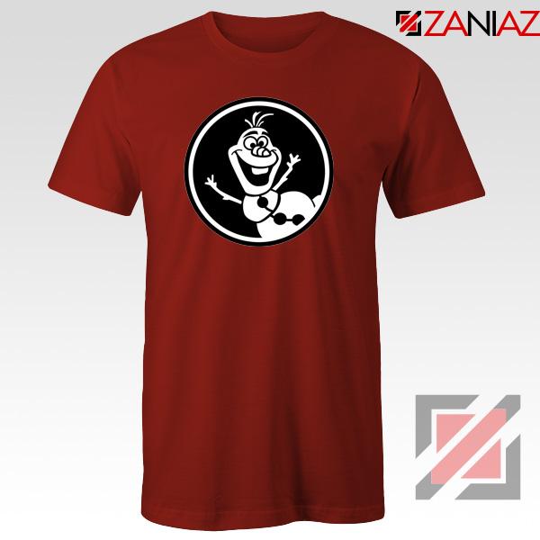 Olaf Disney Tshirt Disney Characters Tee Shirts S-3XL Red