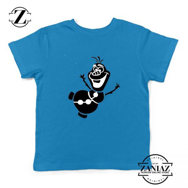 Olaf Snowman Kids Tshirt Disney Frozen Youth Tee Shirts S-XL Blue