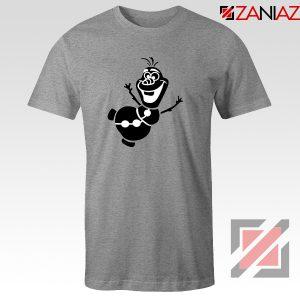 Olaf Snowman Tshirt Disney Frozen Tee Shirts S-3XL Sport Grey